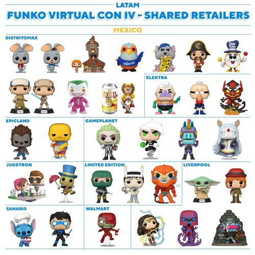 Mexico - Funko NYCC 2020 Shared Retailers