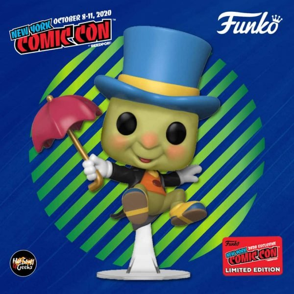 Funko Pop! Disney Pinocchio: Jiminy Cricket Funko Pop! Vinyl Figure - Amazon and NYCC 2020 Shared Exclusive