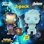 Funko Pop! Marvel Avengers: Morgan & Hologram Tony Stark with Helmet 2-Pack Funko Pop! Vinyl Figures - Pop-In-A-Box (PIAB) Exclusive