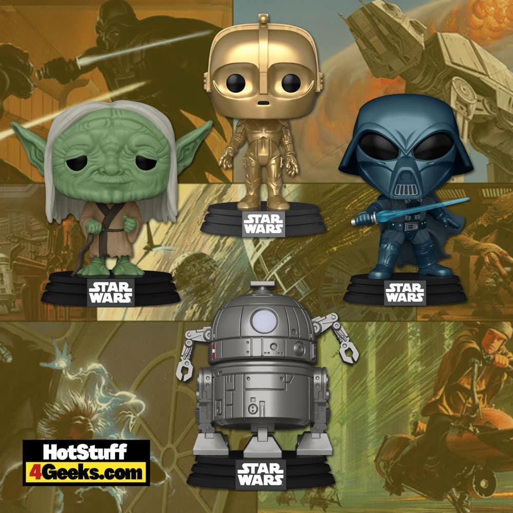 Funko Pop! Star Wars: Concept Series - Yoda, Alternate Darth Vader, C-3PO, and R2-D2 Funko Pop! Vinyl Figures - Wave 2