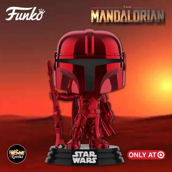Funko POP! Star Wars: The Mandalorian - The Mandalorian Red Chrome Funko Pop! Vinyl Figure - Target Exclusive