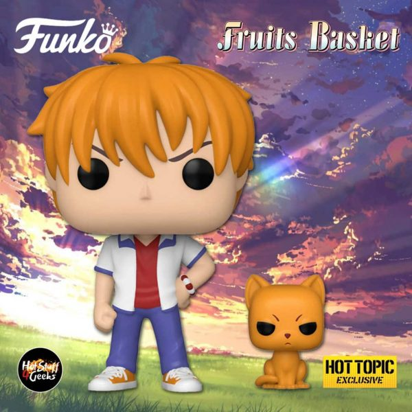 Funko Pop! Animation: Fruits Basket - Kyo Sohma with Cat Funko Pop! Vinyl Figure - Hot Topic Exclusive