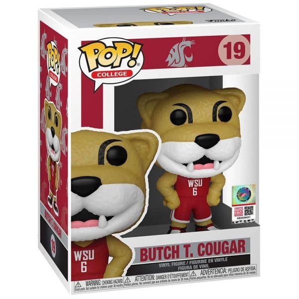 Funko Pop! College: Washington State University Mascot - Butch T Cougar Funko Pop! Vinyl Figure