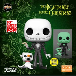 Funko Pop! Disney: Nightmare Before Christmas - Jack Skellington with Zero 10-Inch Glow-In-The-Dark Funko Pop! Vinyl Figure - Fye Exclusive