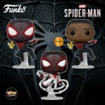 Funko Pop! Games: Marvel Spider-Man Miles Morales - Miles Morales Classic Suit With Chase and Miles Morales Game Track Suinko Pop! Vinyl Figures