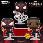 Funko Pop! Games: Marvel Spider-Man Miles Morales - Miles Morales Classic Suit With Chase and Miles Morales Game Track Suit Funko Pop! Vinyl Figures