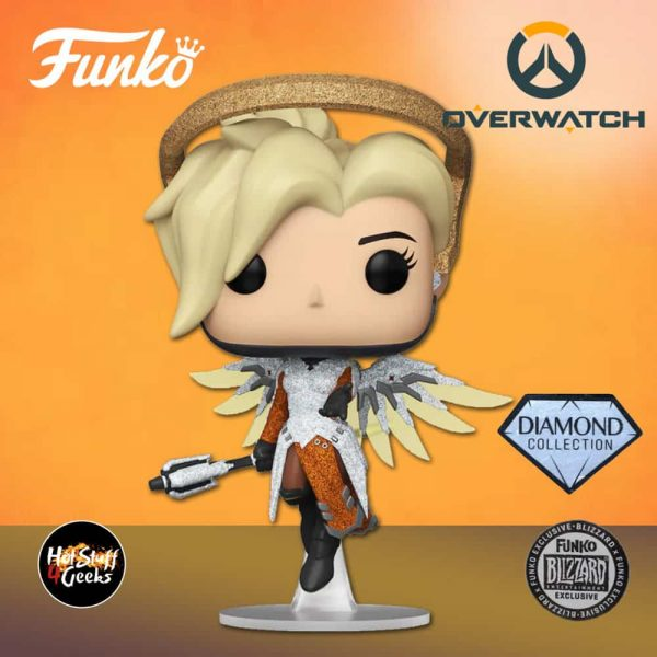 Funko Pop! Games: Overwatch - Mercy Diamond Collection Funko Pop! Vinyl Figure - Blizzard Exclusive