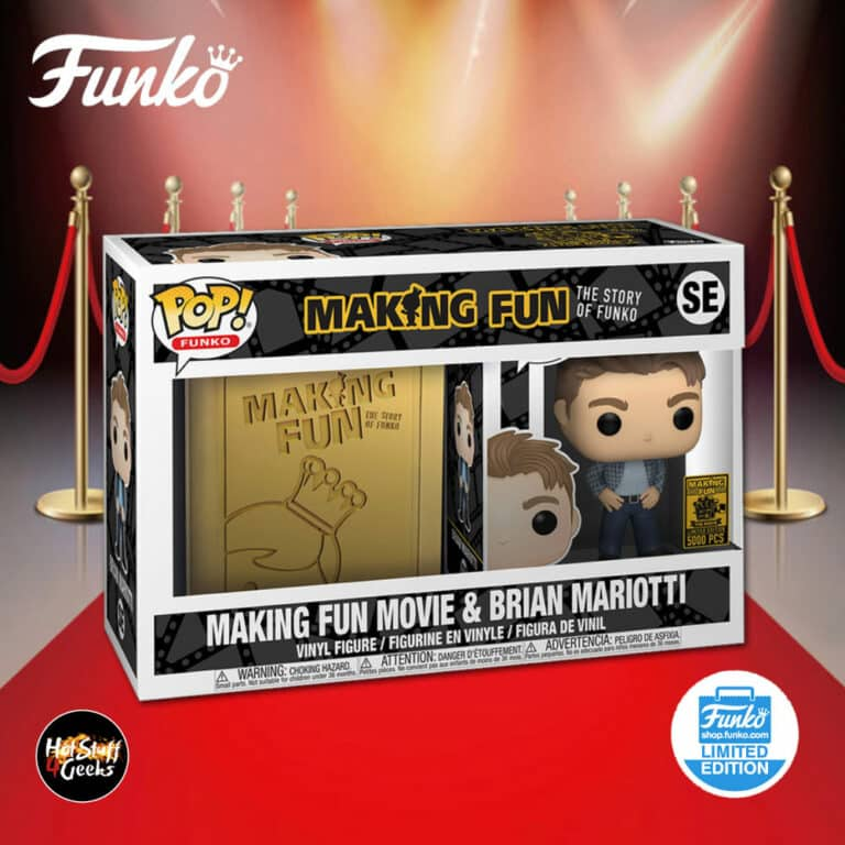 Funko Pop! Making Fun DVD/Blue-ray Movie and Brian Mariotti Funko Pop! Vinyl Figure Bundle - Funko Shop Exclusive