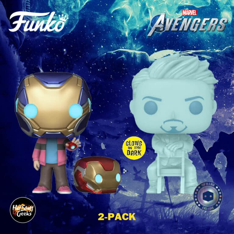 Funko Pop! Marvel Avengers: Morgan & Hologram Tony Stark with Helmet 2-Pack Funko Pop! Vinyl Figures - Pop-In-A-Box (PIAB) Exclusive