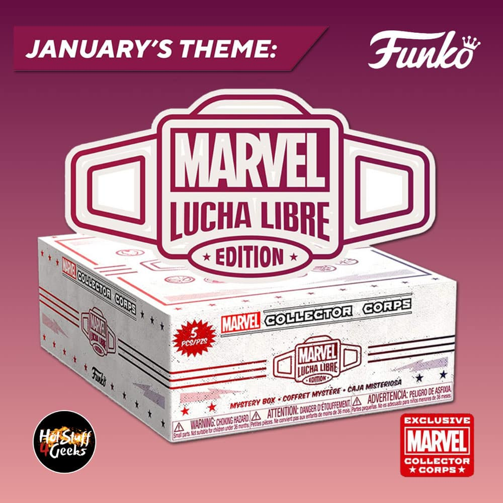 Funko Pop! Marvel Collector Corps January 2021 Subscription Box - Lucha Libre Theme