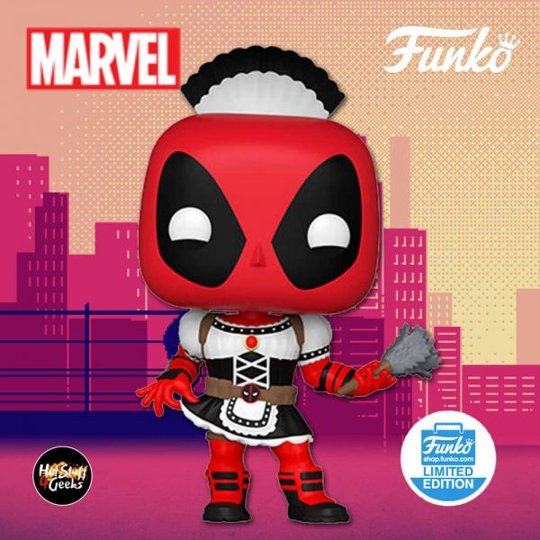 Funko Pop! Marvel: French Maid Deadpool Funko Pop! Vinyl Figure - Funko Shop Exclusive