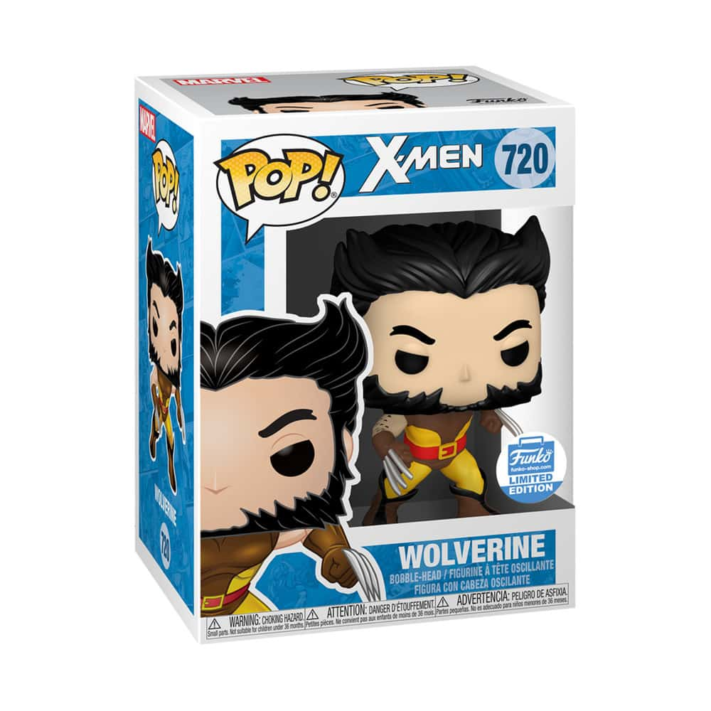 Funko Pop! Marvel: X-Men - Unmasked Wolverine V2 Funko Pop! Vinyl Figure - Funko Shop Exclusive