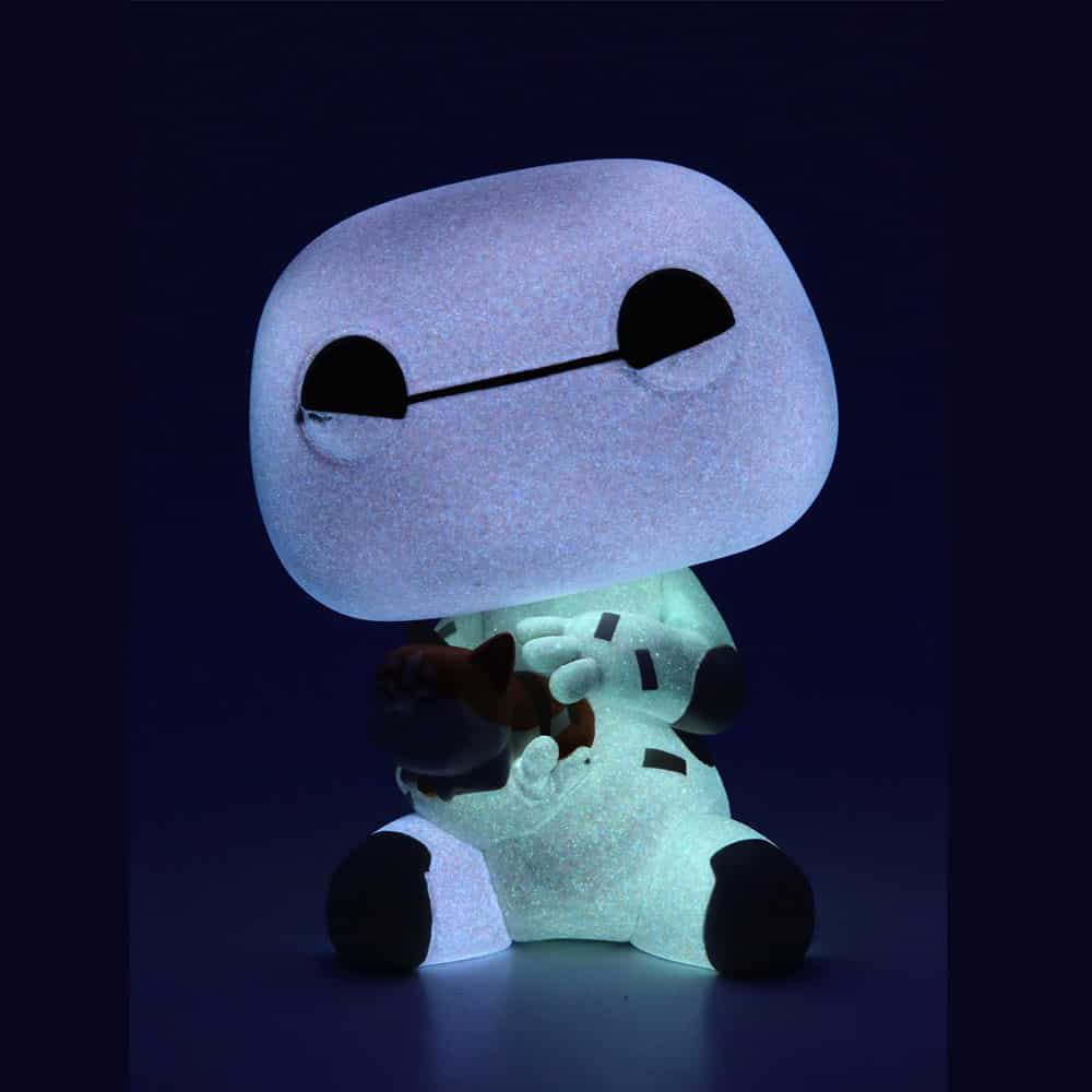 Funko Pop! Movies: Big Hero 6 - Baymax with Mochi 6-inch with Glow-In-The-Dark (GITD) Chase Variant Funko Pop! Vinyl Figure