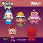 Funko Pop! Retro Toys: Candyland - King Kandy, Queen Frostine, Jolly, Mr. Mint and Player Game Piece Funko Pop! Vinyl Figures