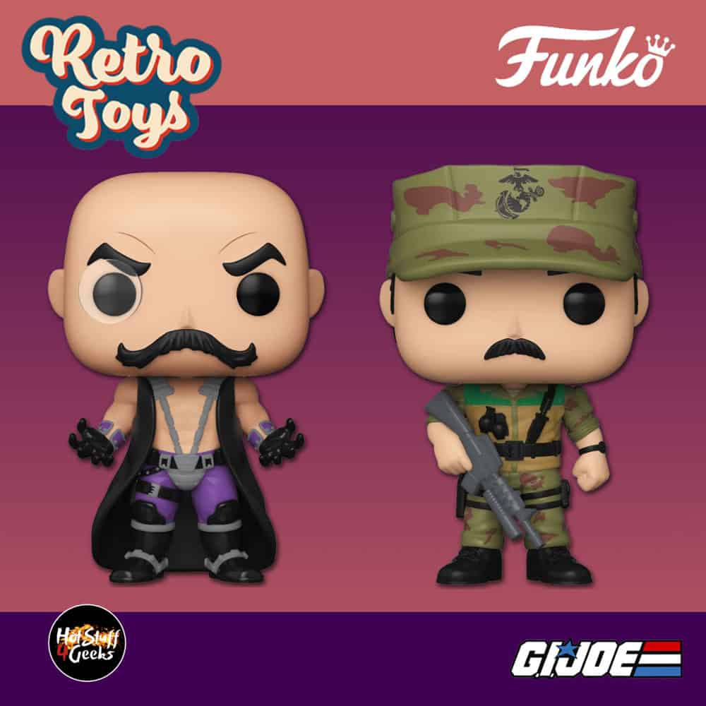 Funko Pop! Retro Toys: G.I. Joe - Dr. Mindbender and Leatherneck Funko Pop! Vinyl Figures