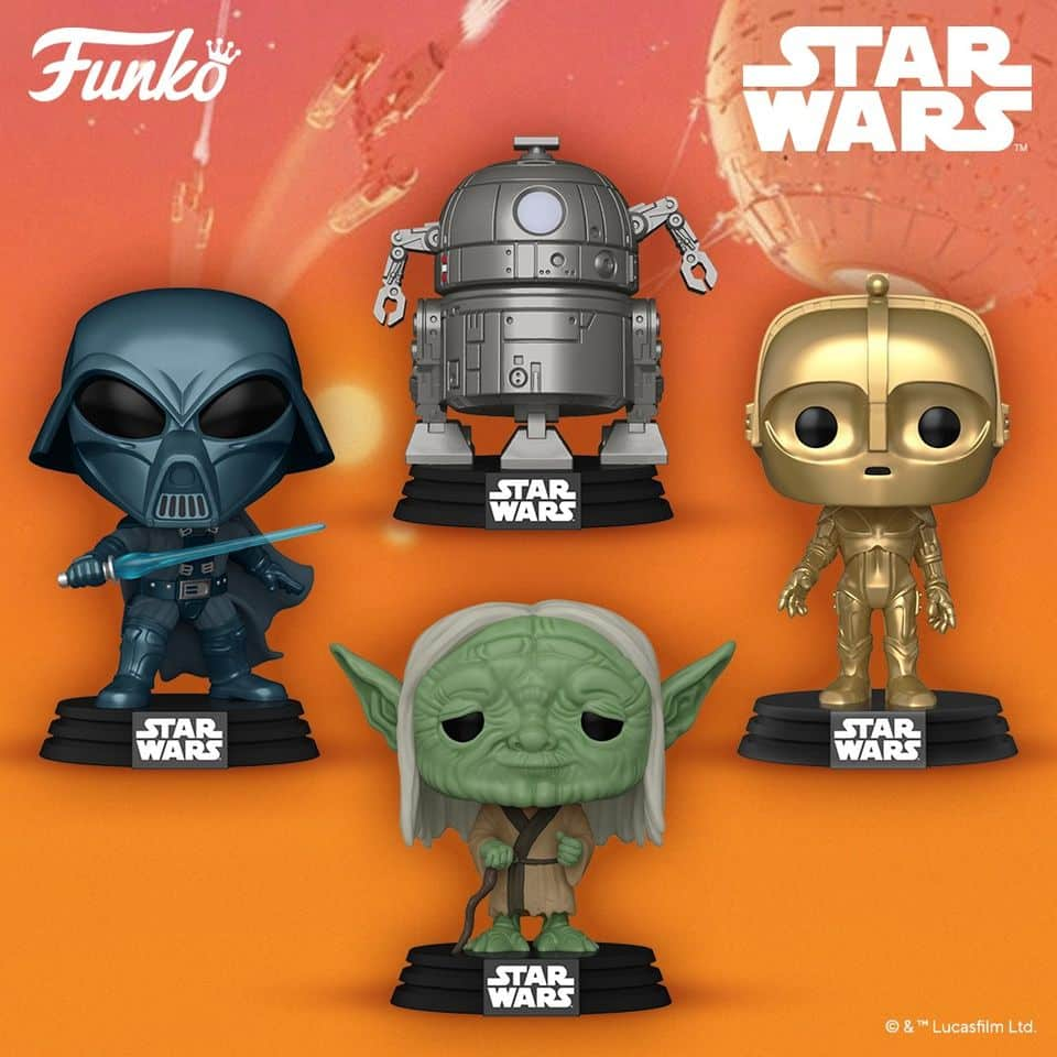 Funko Pop! Star Wars: Concept Series - Yoda, Alternate Darth Vader, C-3PO and R2-D2 Funko Pop! Vinyl Figure - Wave 2