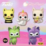 Funko Pop! Tasty Peach: Queen Bee Meowchi, Udon Kitten, Vanilla-Berry Nomwhal, Zombie Alpaca and Zombie Alpaca Purple (Flocked) Funko Pop! Vinyl Figures