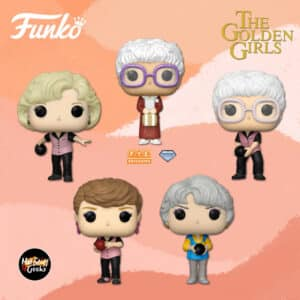 Funko Pop! Television: Golden Girls - Dorothy Bowling Uniform, Sophia Bowling Uniform, Rose Bowling Uniform, Blanche Bowling Uniform, and Sophia Glitter Diamond Collection (Fye Exclusive) Funko Pop! Vinyl Figures