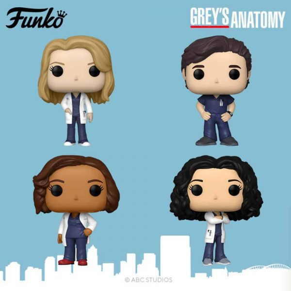 Funko Pop! Television: Grey's Anatomy - Dr. Bailey, Derek Shepherd, Meredith Grey and Cristina Yang Funko Pop! Vinyl Figures