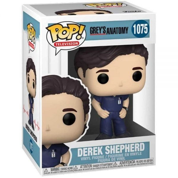 Funko Pop! Television: Grey's Anatomy - Derek Shepherd Funko Pop! Vinyl Figure