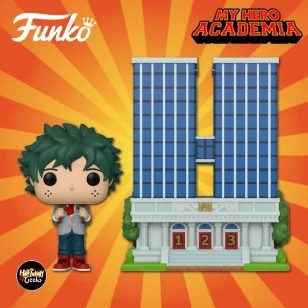 Funko Pop! Town: My Hero Academia U.A. High School with Deku in Uniform Funko Pop! Vinyl Figure