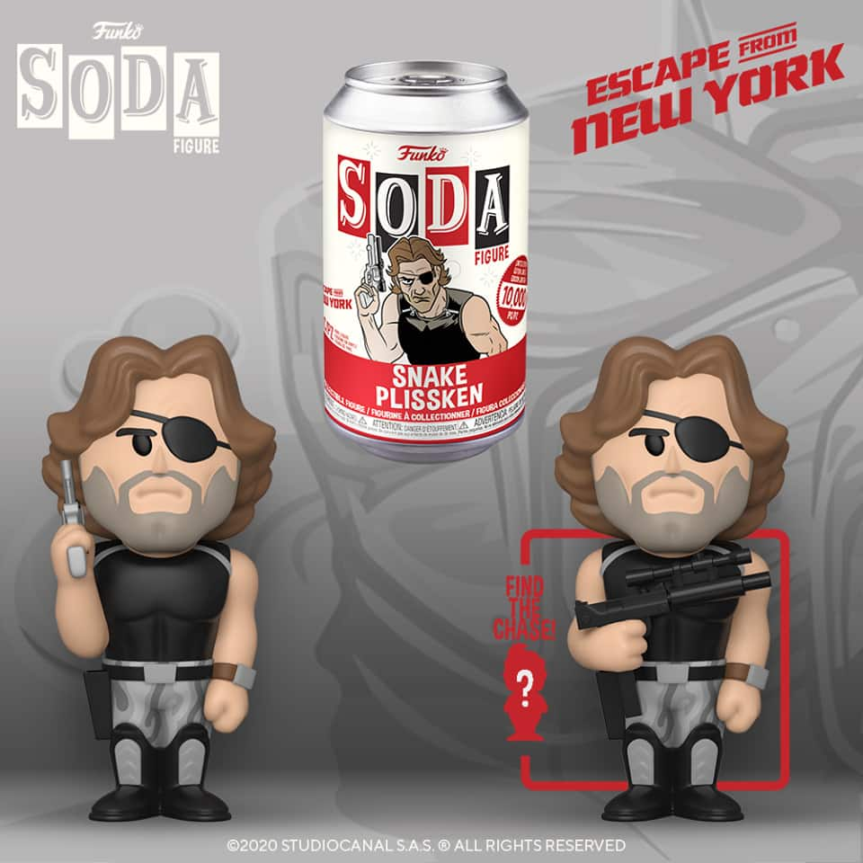 Funko Vinyl Soda Escape from NY - Snake With Chase Variant Vinyl Soda Figure