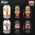 Funko Vinyl Soda: Marvel Luchadores - El Venenoide (Venom) and El Héroe Invicto (Iron Man) With Chase Variant Vinyl Soda Figures