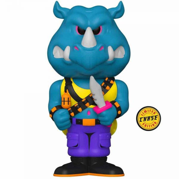 Funko Vinyl Soda: Teenage Mutant Ninja Turtles (TMNT) - Rocksteady With Chase Variant Vinyl Soda Figure