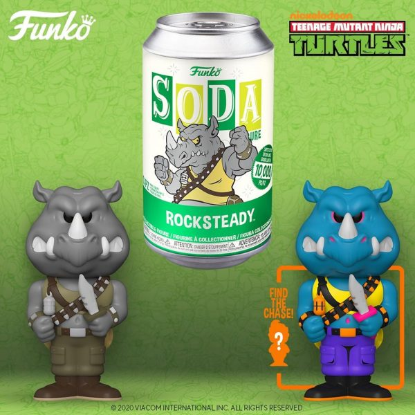 Funko Vinyl Soda Teenage Mutant Ninja Turtles - Rocksteady With Chase Variant Vinyl Soda Figure