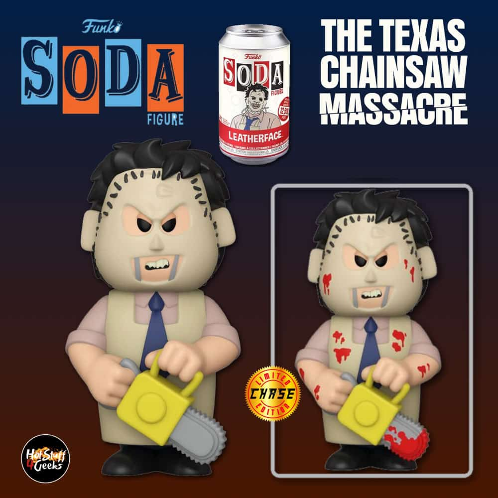 Funko Vinyl Soda: The Texas Chainsaw Massacre - Leatherface With Chase Variant Vinyl Soda Figure