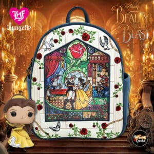 Loungefly Disney Beauty and the Beast Stained Glass Mini Backpack - BoxLunch Exclusive
