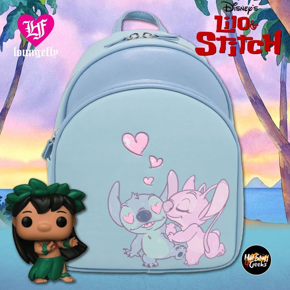 Loungefly Disney Lilo & Stitch Stitch & Angel Couple Mini Backpack - BoxLunch Exclusive