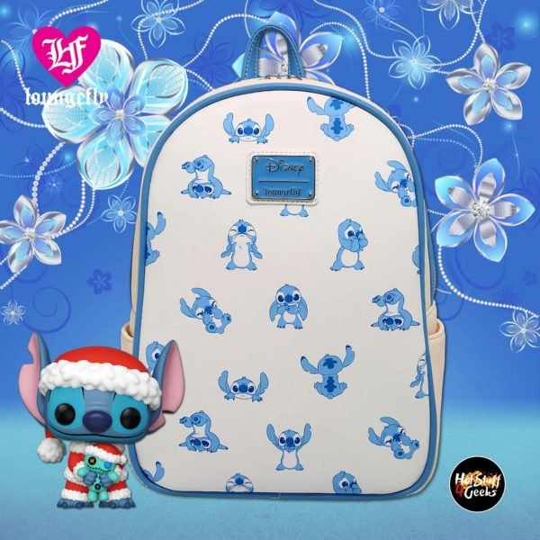 Loungefly Disney Lilo & Stitch Vintage Allover Print Mini Backpack - BoxLunch Exclusive
