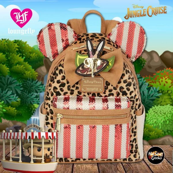 Loungefly Disney Minnie Mouse: The Main Attraction Jungle Cruise Mini Backpack – Shop Disney Exclusive