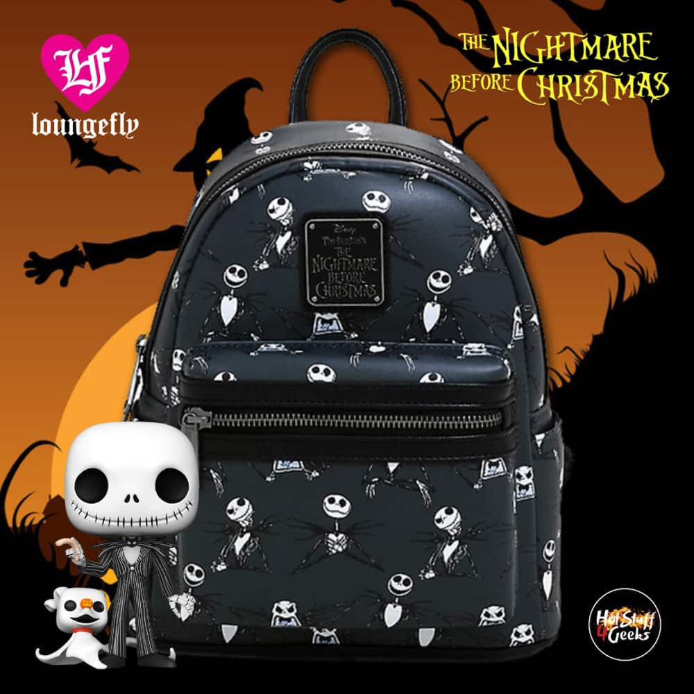Loungefly Disney The Nightmare Before Christmas Jack Skellington Poses Mini Backpack - BoxLunch Exclusive