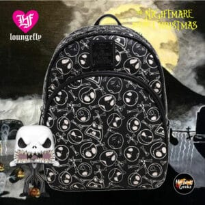 Loungefly Disney The Nightmare Before Christmas Jack Skellington Skull and Bones Mini Backpack - BoxLunch Exclusive