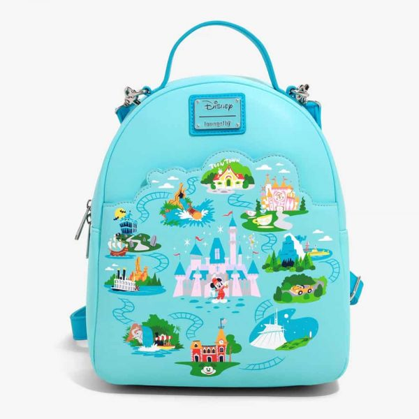 Loungefly Disneyland 65th Anniversary Convertible Mini Backpack - BoxLunch Exclusive