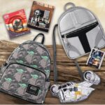 Loungefly Star Wars The Mandalorian:The Child and Mando Print Mini Cosplay Backpack, Mandalorian Helmet Mini Cosplay Backpack and Razorcrest Ship Crossbody Bag - Amazon Exclusives
