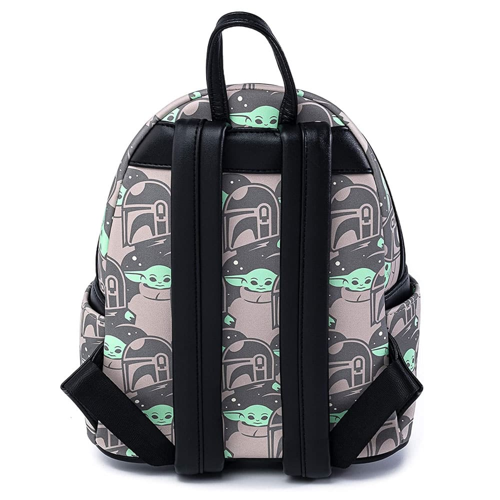 Loungefly Star Wars The Mandalorian: The Child and Mando Print Mini Cosplay Backpack - Amazon Exclusive