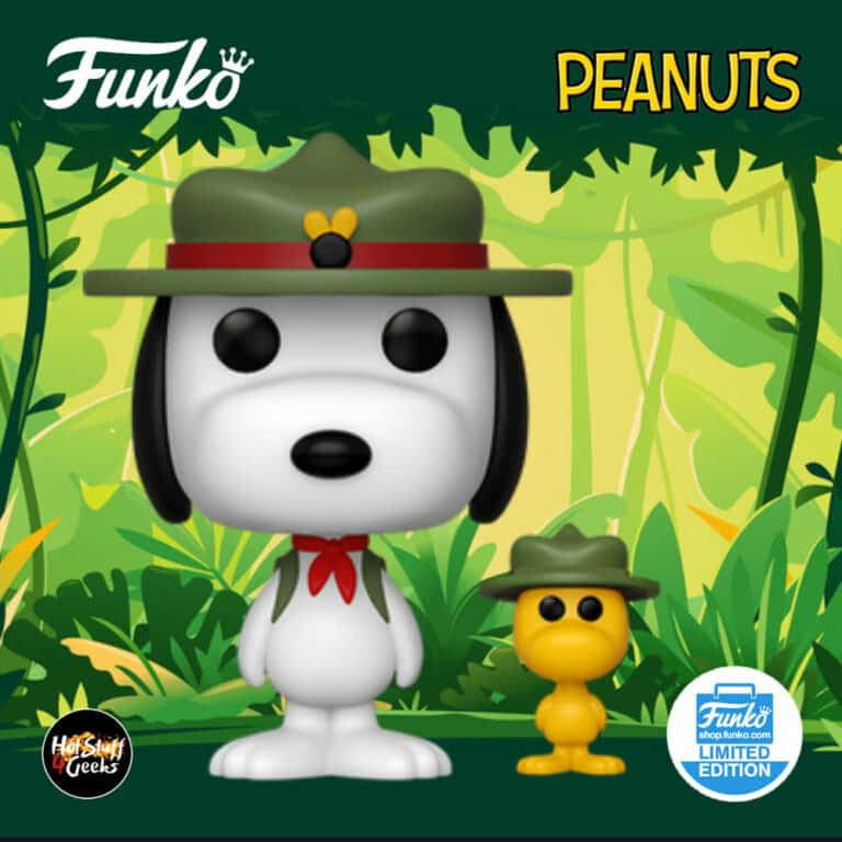 Funko Pop! & Buddy: Peanuts - Beagle Scout Snoopy with Woodstock Funko Pop! Vinyl Figure - Funko Shop Exclusive