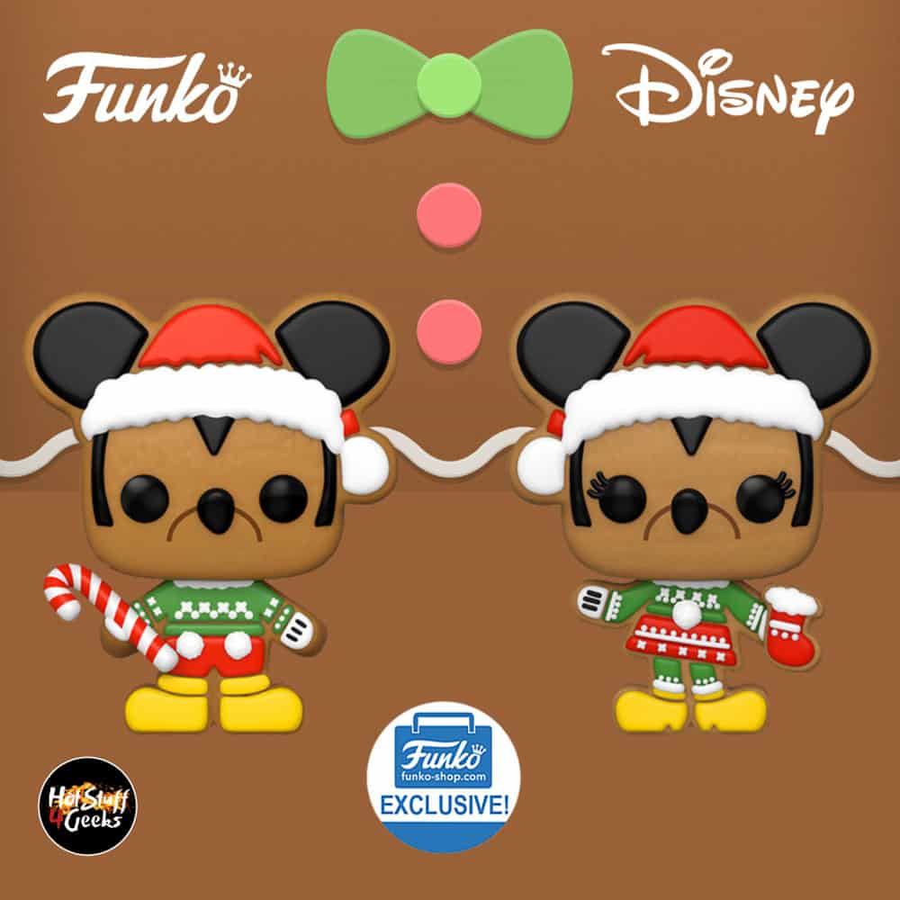 Funko Pop! Disney: Gingerbread Mickey Mouse and Gingerbread Minnie Mouse Funko Pop! Vinyl Figures