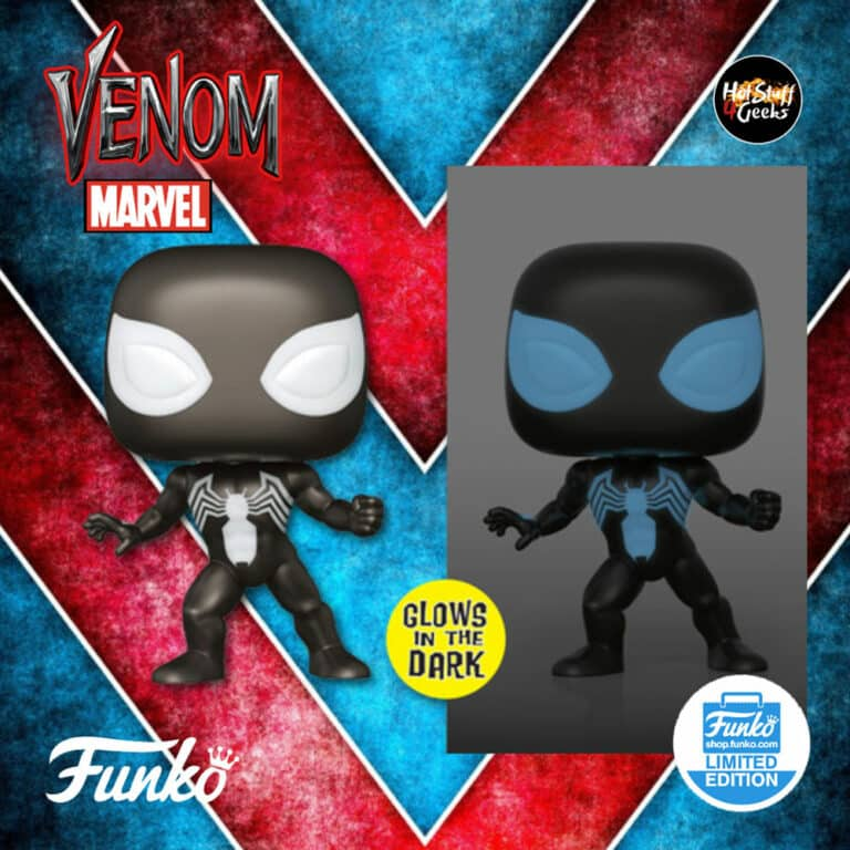 Funko Pop! Marvel: Spider-Man in Symbiote Suit Glow-In-The-Dark (GITD) Funko Pop! Vinyl Soda - Funko Shop Exclusive