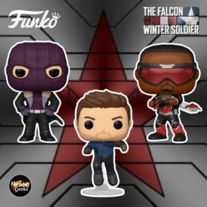 Funko Pop! Marvel Studios: The Falcon and Winter Soldier - Baron Zemo, Winter Soldier and Falcon Funko Pop! Vinyl Figures
