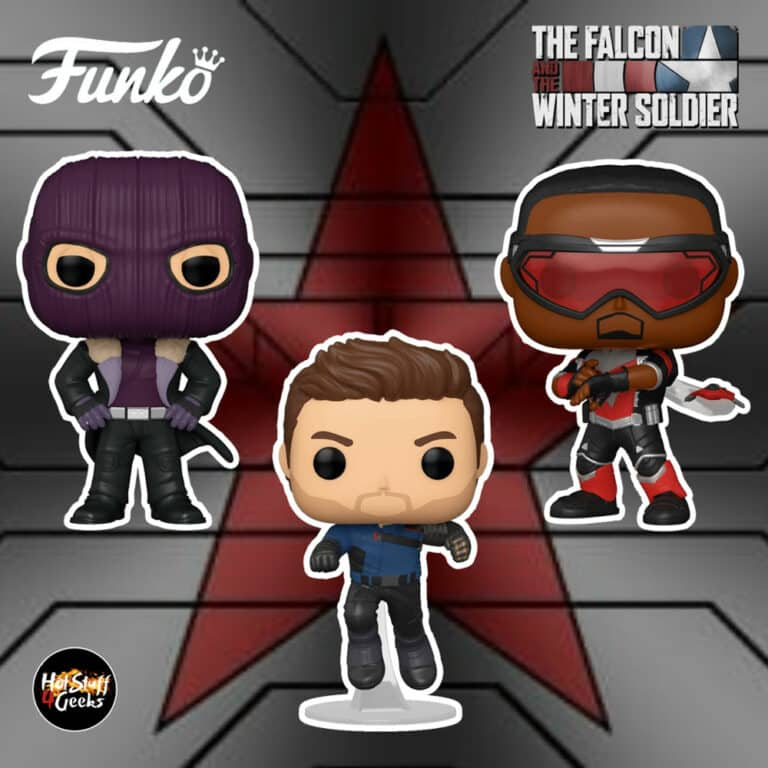 Funko Pop! Marvel Studios: The Falcon and Winter Soldier - Baron Zemo, Winter Soldier and Falcon Funko Pop! Vinyl Figures