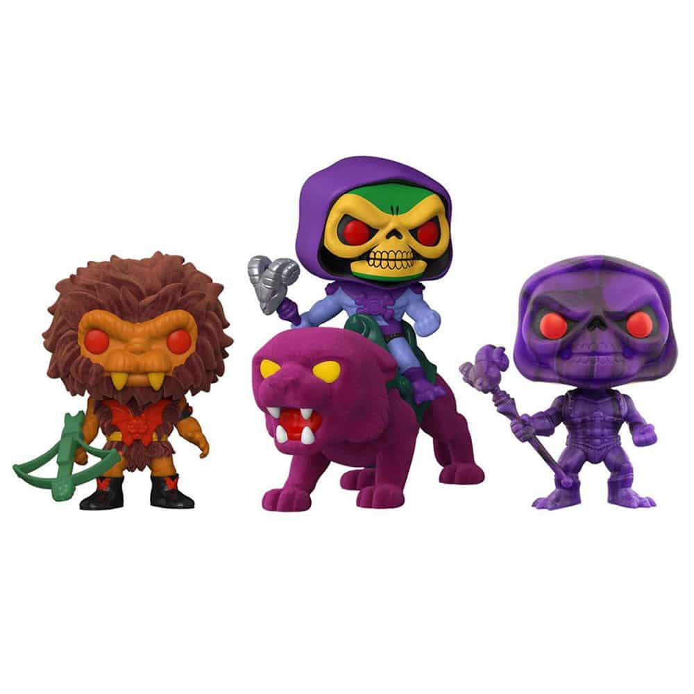 Funko Pop! Masters of the Universe - Skeletor on Panthor Pop! Rides, Grizzlor Pop!, and Skeletor (Artist Series) Funko Pop! Vinyl Figures
