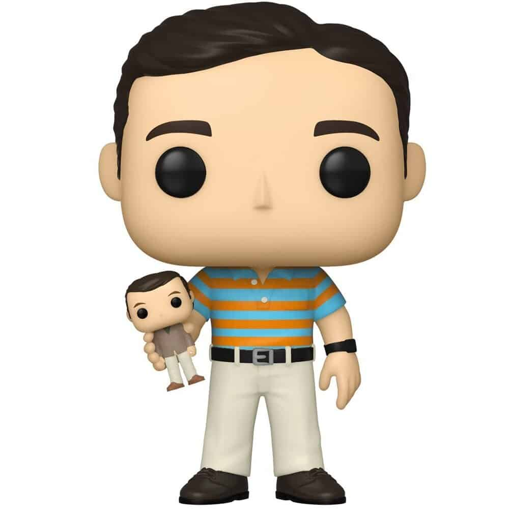 Funko Pop! Movies: 40-Year-Old Virgin - Andy Holding Oscar With Chase and Andy Waxed Funko Pop! Vinyl Figures