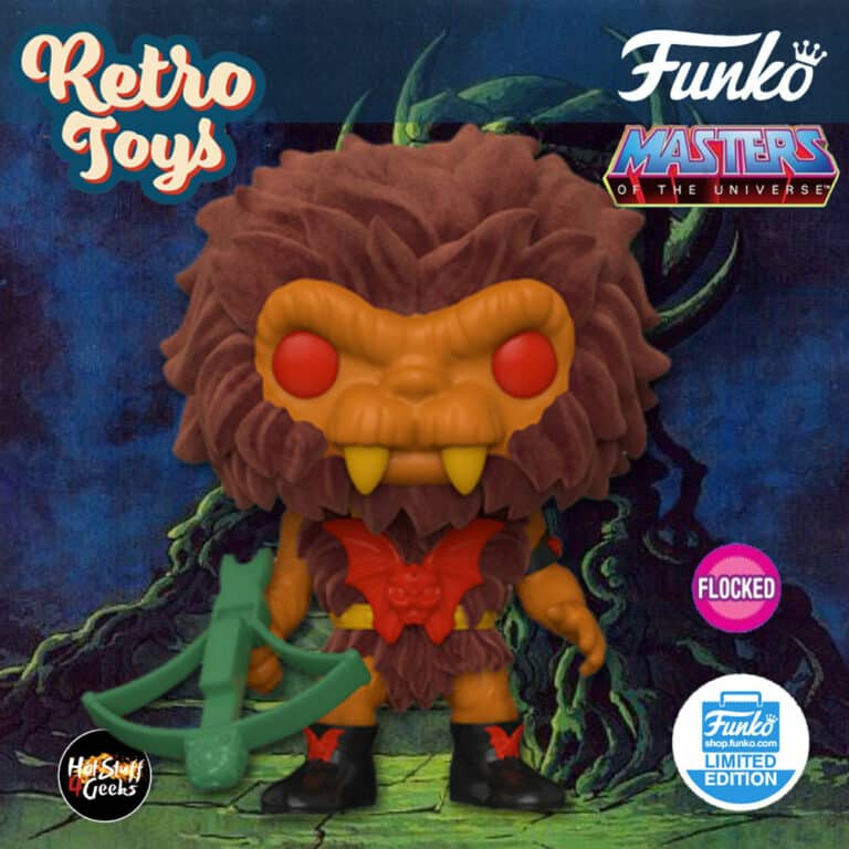 Funko Pop! Retro Toys: Masters of the Universe - Grizzlor (Flocked) Funko Pop! Vinyl Figure - Funko Shop Exclusive