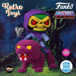 Funko Pop! Rides: Masters of the Universe - Skeletor on Panthor (Flocked) Funko Pop! Vinyl Figure - Funko Shop Exclusive