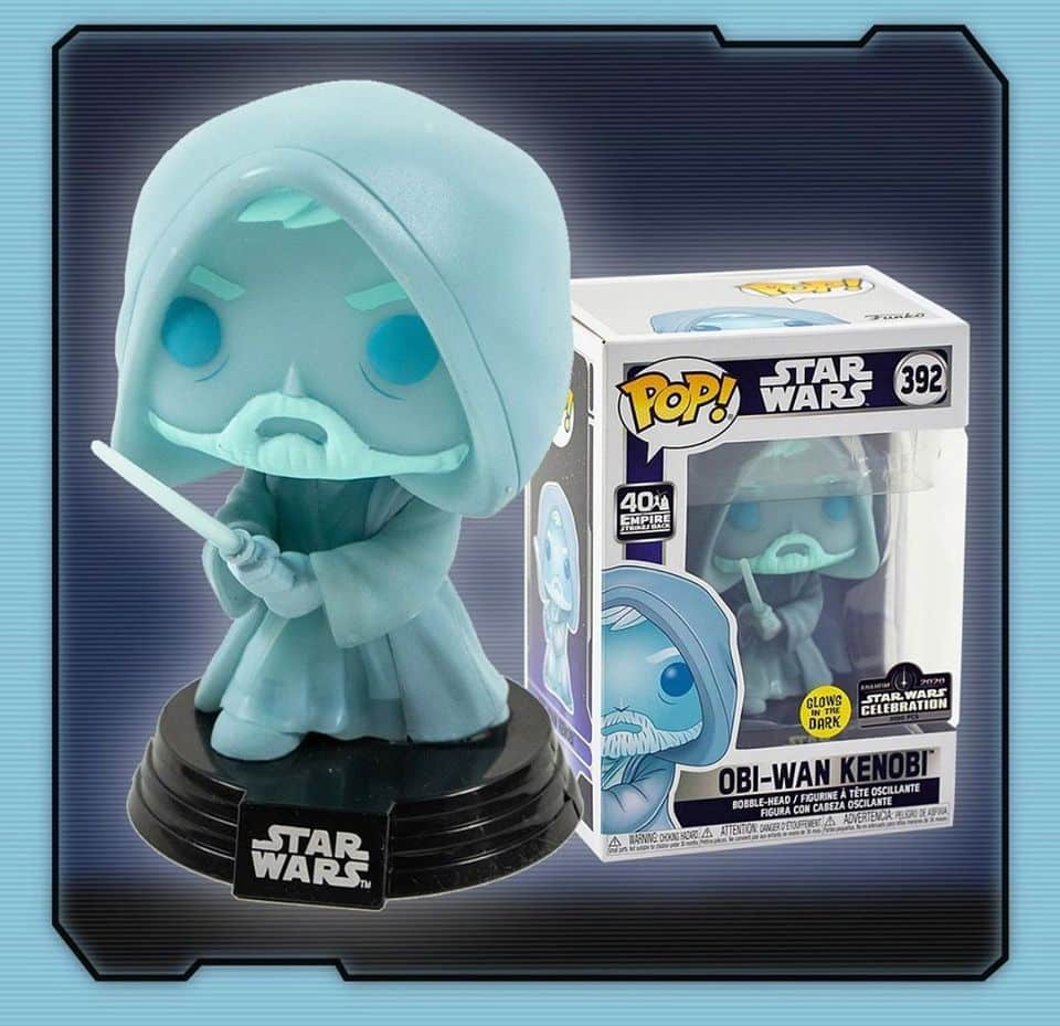 Funko Pop! Star Wars: Obi-Wan Kenobi Glow in the Dark (GITD) Funko Pop! Vinyl Figure - Star Wars Celebration Exclusive
