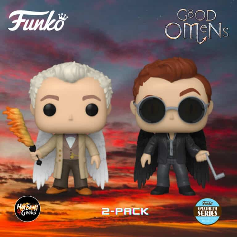 Funko Pop! Television: Good Omens - Aziraphale and Crowley with Wings 2-Pack Funko Pop! Vinyl Figure - Specialty Series Exclusive